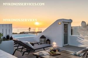 Villa D Angelo Sunset Penthouse by the wind mills - mykonos services - rent villa mykonos 12020