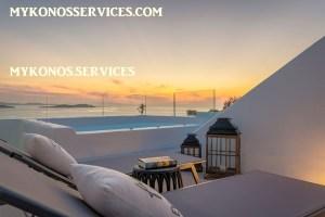 Villa D Angelo Sunset Penthouse by the wind mills - mykonos services - rent villa mykonos 400