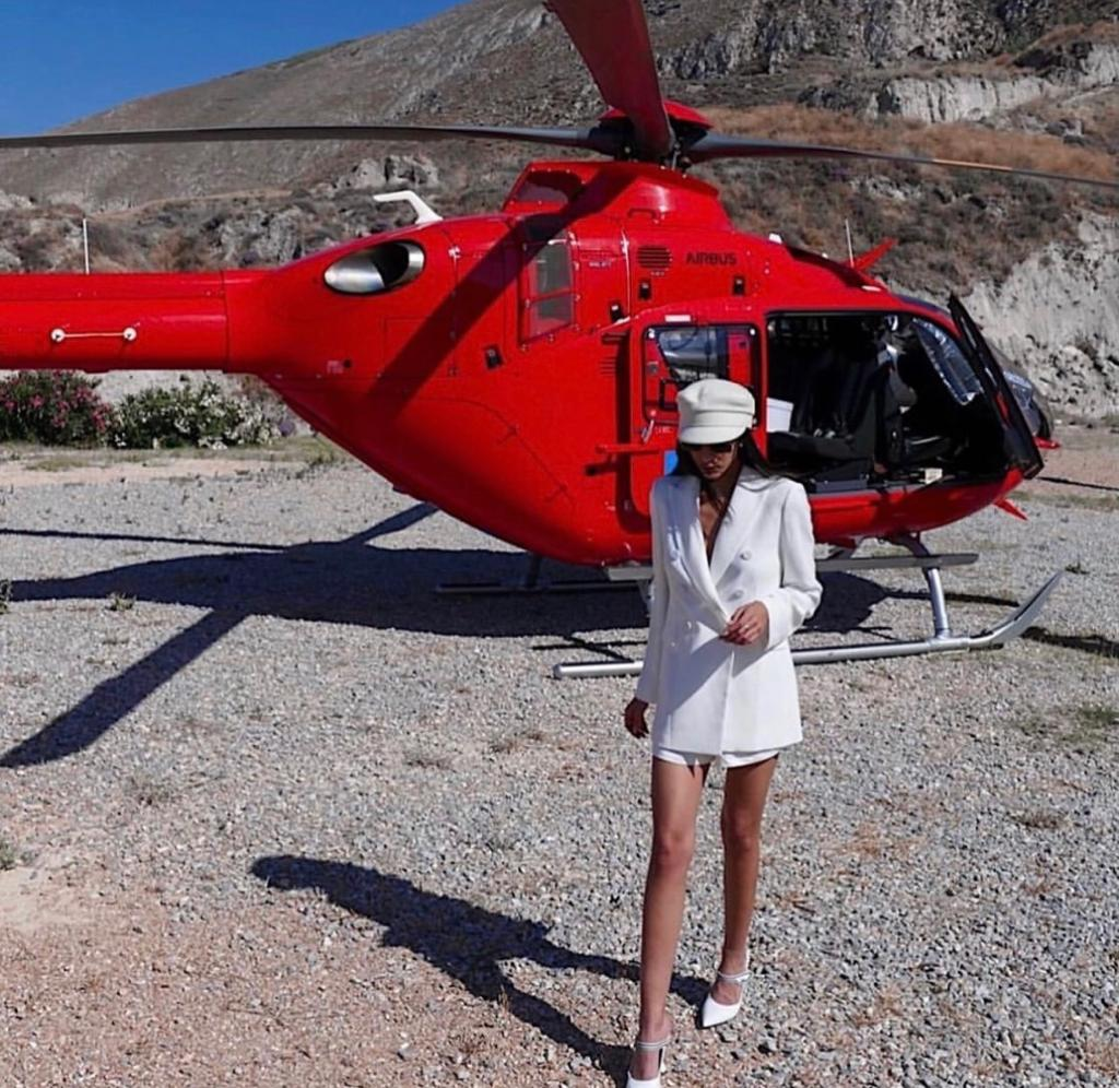 mykonos helicopter - helicopter tour trip in mykonos