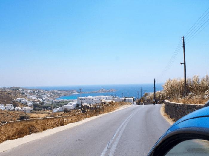 Getting around Mykonos by car