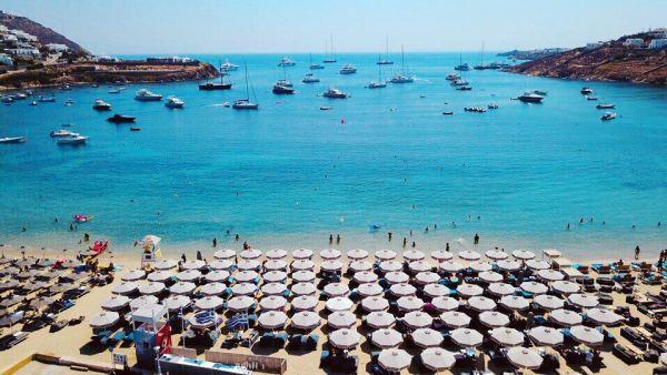 Ornos beach Mykonos island, Greece - Mykonos Traveller