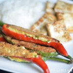 Vegetarian Gochu Jeon 고추전 (Stuffed Hot Chili Peppers)