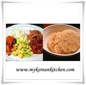 fried kimchi ingredient
