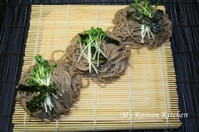 Cold Soba Noodles (Memil Guksu) | MyKoreanKitchen.com