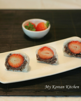 Strawberry Rice Cakes for My Valentine 2