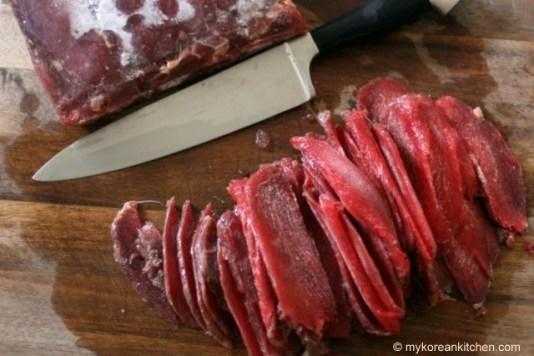Thinly sliced Kangaroo Meat