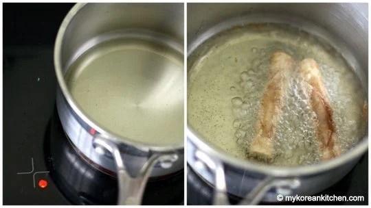 Frying Churros