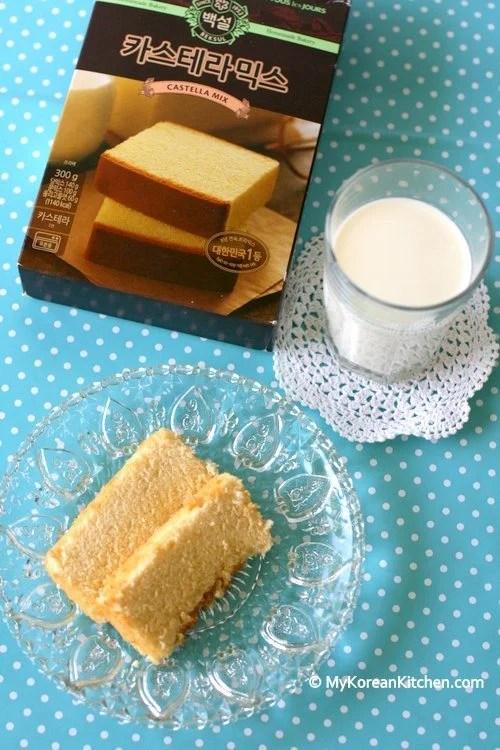 Korean Castella Cake Mix (Honey Sponge Cake)   MyKoreanKitchen.com
