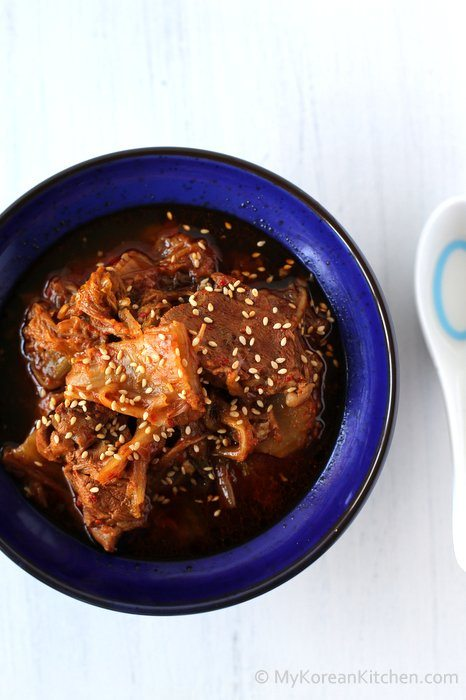 Slow Cooker Kimchi Stew with Beef   MyKoreanKitchen.com