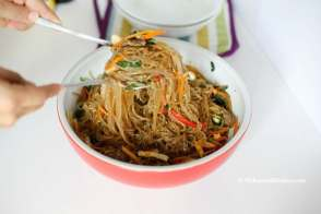 Korean Glass Noodle Stir Fry (Japchae) recipe | MyKoreanKitchen.com