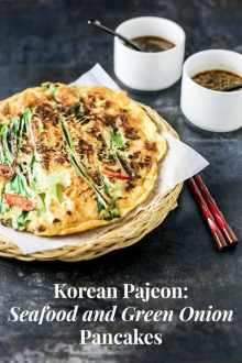 Korean Seafood and Green Onion Pancakes (Haemul Pajeon) | MyKoreanKitchen.com