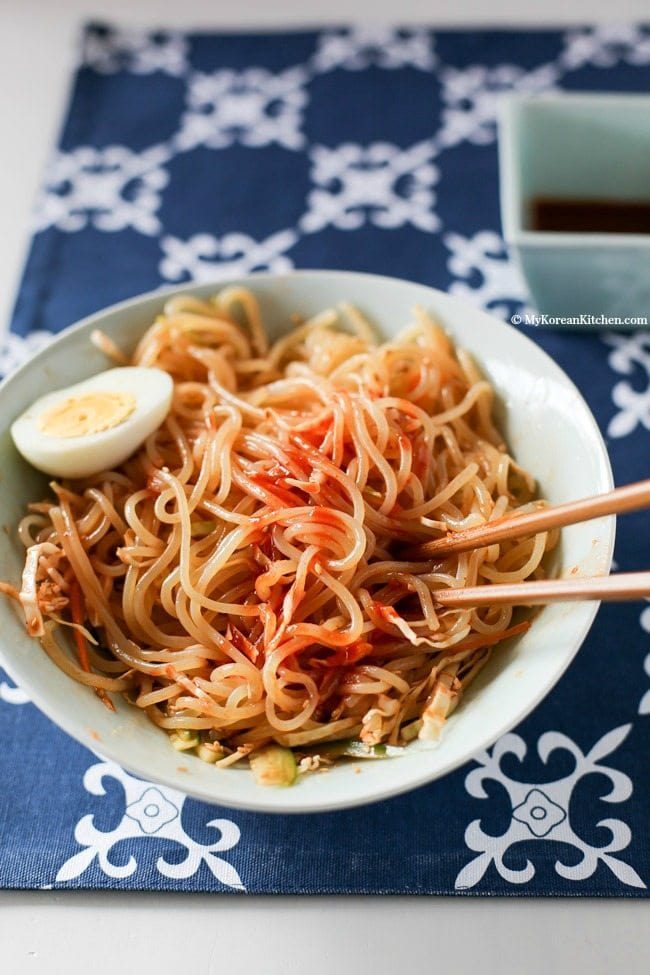 Jjolmyeon Korean Spicy Chewy Noodles My Korean Kitchen