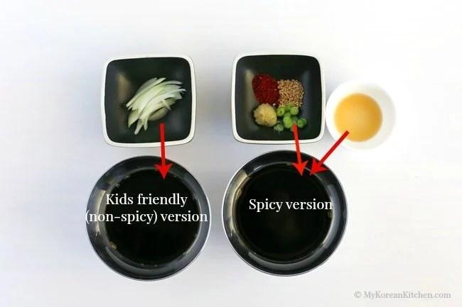 Korean Sweet Tangy Soy Dipping Sauce Recipe - Pair it with your next Korean pancakes or Korean dumplings   MyKoreanKitchen.com
