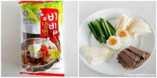 Bibim Naengmyeon Ingredients