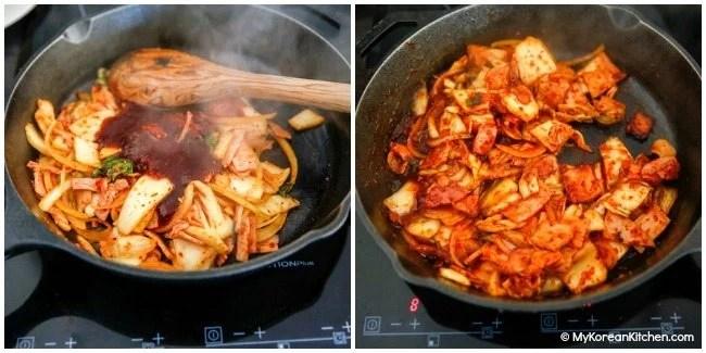 Kimchi Udon Noodle Stir Fry - Cooking Kimchi