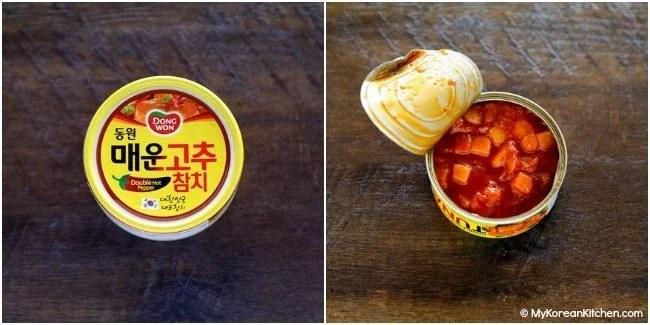 Korean spicy canned tuna | MyKoreanKitchen.com