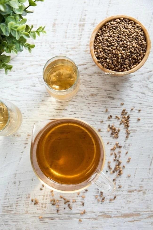 How to Make Korean Barley Tea (Boricha)   MyKoreanKitchen.com