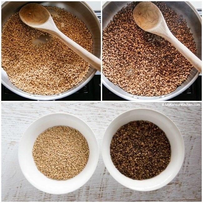 How to roast barley for tea   MyKoreanKitchen.com