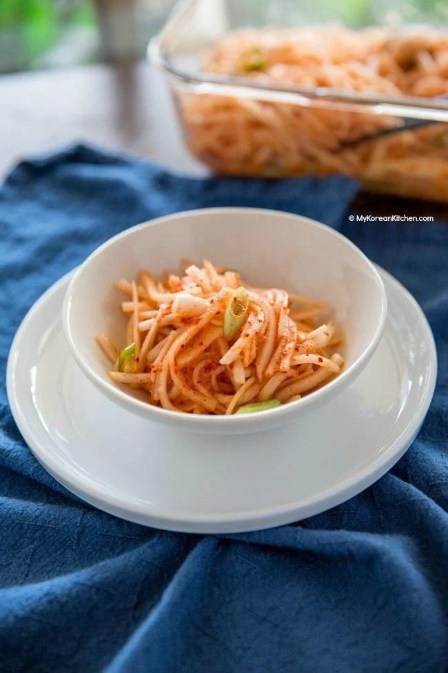 Spicy Radish Salad (Korean Musaengchae) | MyKoreanKitchen.com