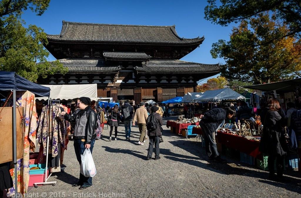 Kobo-san Market at To-Ji Temple