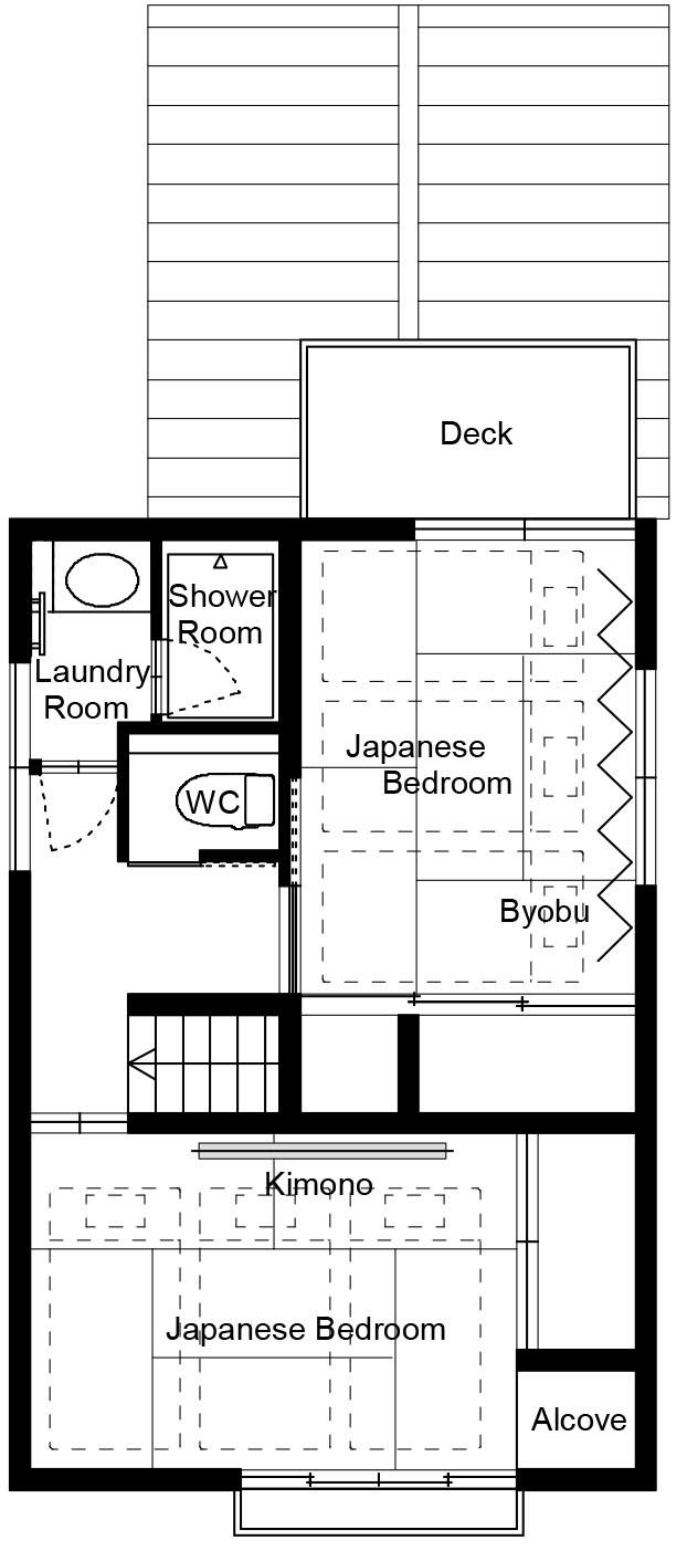Floor plan of Miyagawacho Machiya 2F