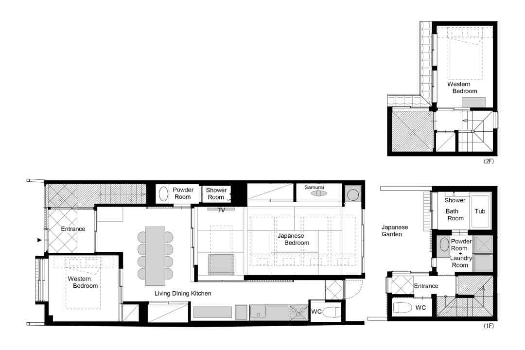 Floor plan of Miyagawacho Machiya 1F