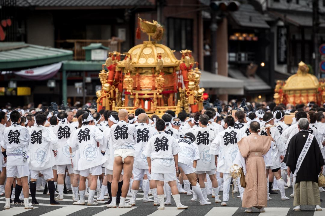 Shinkosai Ceremony, a Mikoshi Procession, during the Gion Matsuri