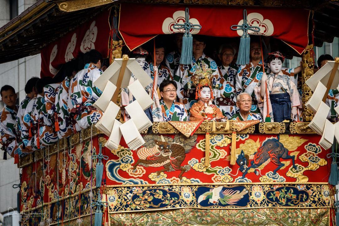 Naginata Boko float, leading the procession every year, Gion Matsuri