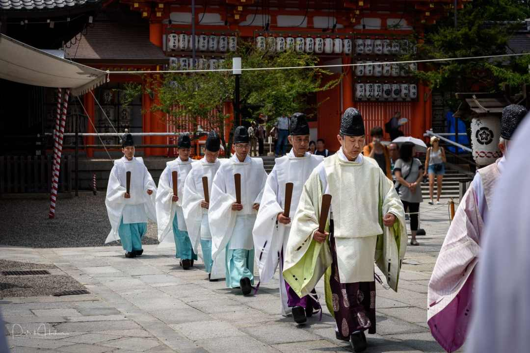 The arrival of the Shinto priests