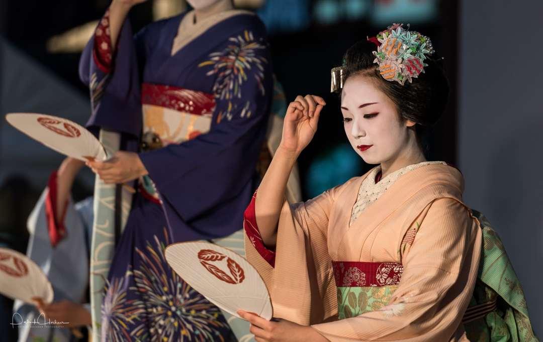 Maiko dancing at the Gion Matsuri, Kyoto