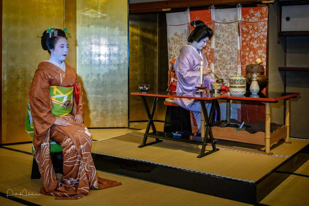 Tea Ceremony by Maiko and Geiko at Kamishichiken