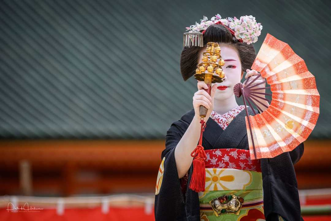 Maiko Kikusana of Miyagawa-Cho at the Heian Shrine Reisai Annual Festival, Kyoto