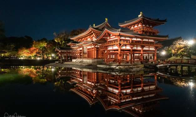 Magical evening at the Byodoin Temple