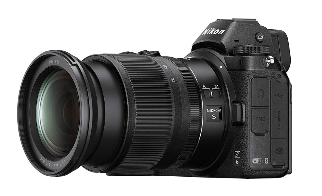 Nikon Z6 with the 24-70 mm zoom