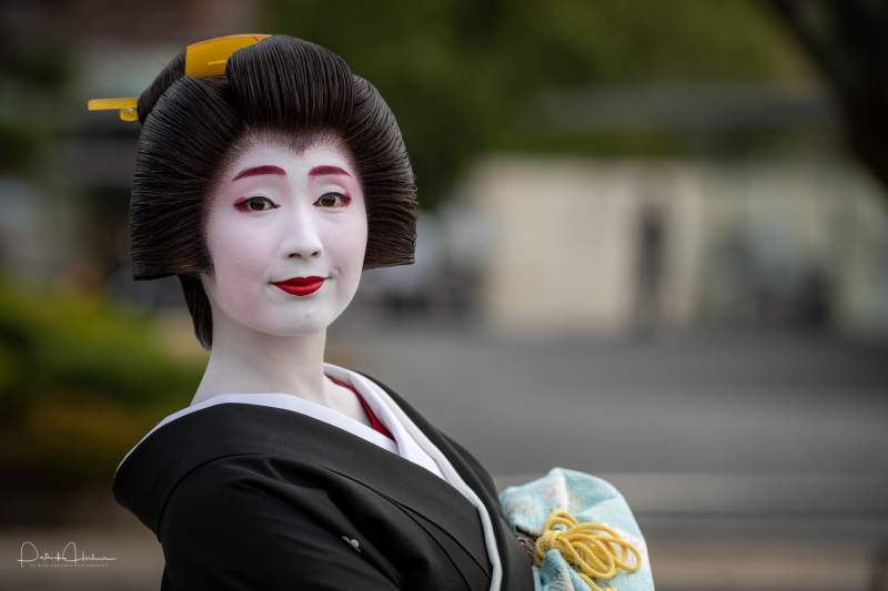 Portrait of Geiko Sayaka at the National Museum, Kyoto