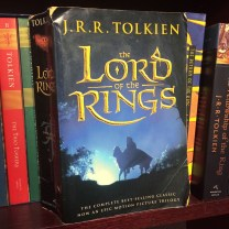 "I always go back to reading from this book, it's the one you always find in used bookstores haha. This is my ""reading copy"" of LOTR which means I allow myself to write/highlight in it."