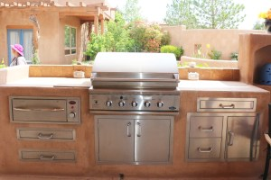 This outdoor kitchen is for full on outdoor living. Remember outdoor grilling and kitchens can be as large or small as you like. Try to think outside the box like my outdoor kitchen for under $200.