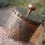 Custom copper smoke release cap for Horno.