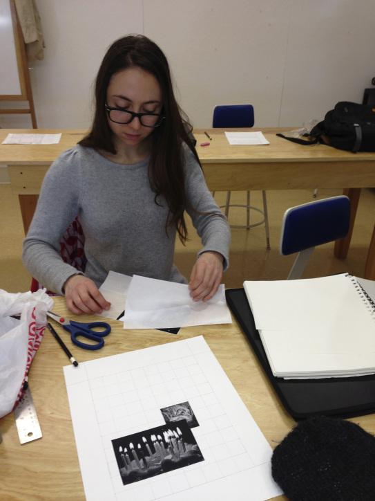 Amelia working on design