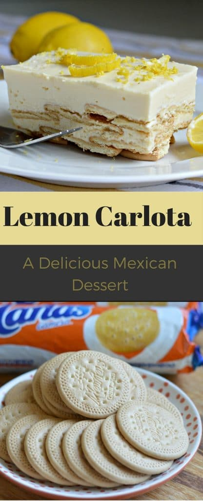 This is about a simple a dessert recipe as you will find, but it is delicious! A lemon carlota is a Mexican dessert that is very popular in Mexico - It only requires 4 ingredients!
