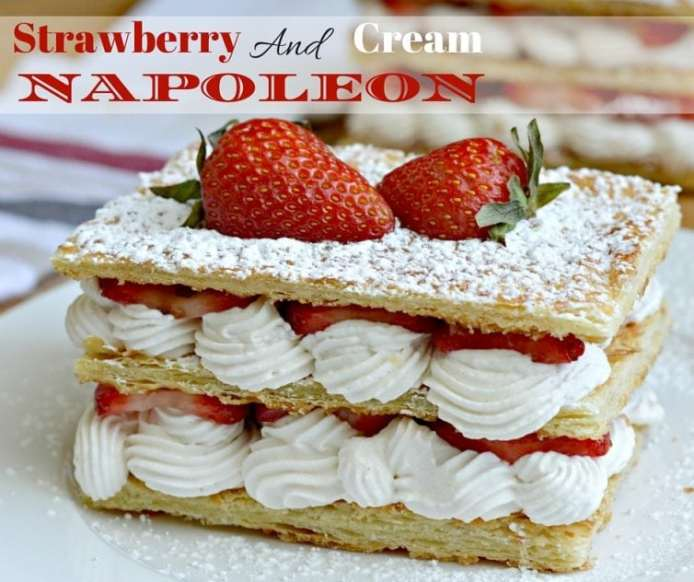 Strawberry and Cream Napoleon Recipe - delicious, fresh, and beautiful
