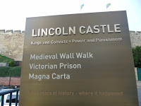 lincoln castle sign, lincoln castle,