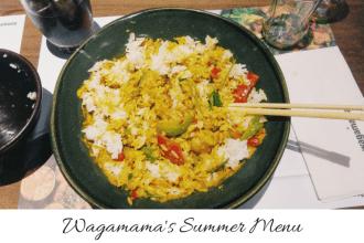Wagamam's summer menu, wagamama's title, mylavendertintedworld, sheffield bloggers