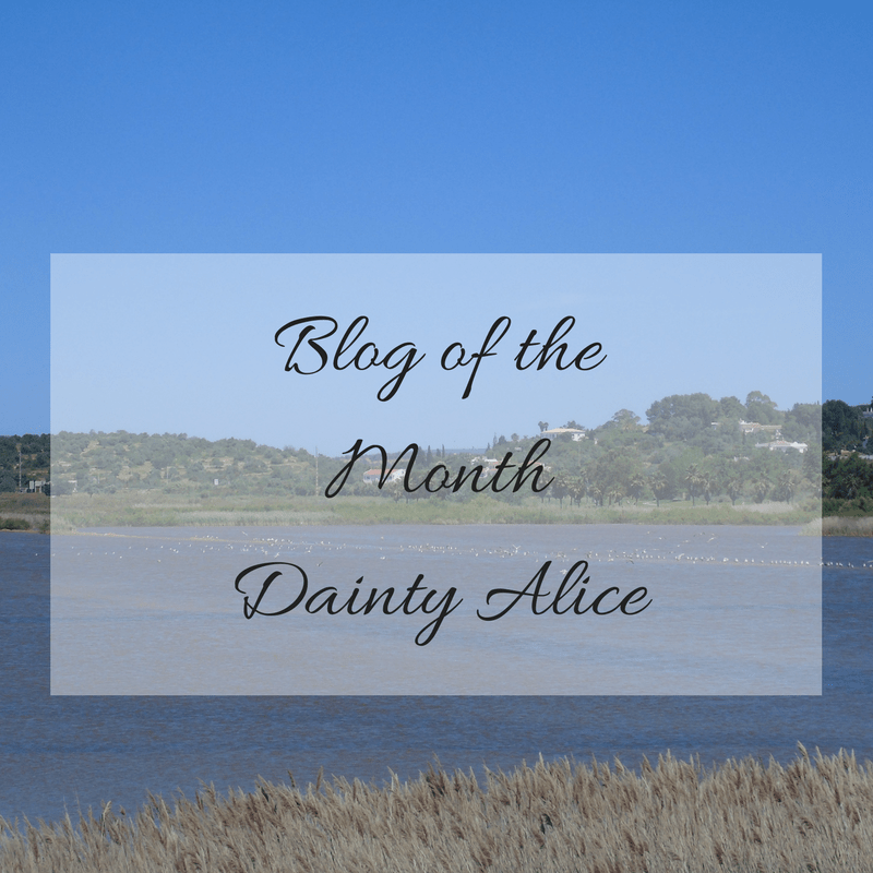 blog of the month, mylavendertintedworld, daintyalice, dainty alice,