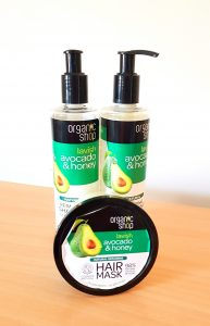 Organic Shop Shampoo, Conditioner and Hair Mask in the Lavish Avocado and Honey range