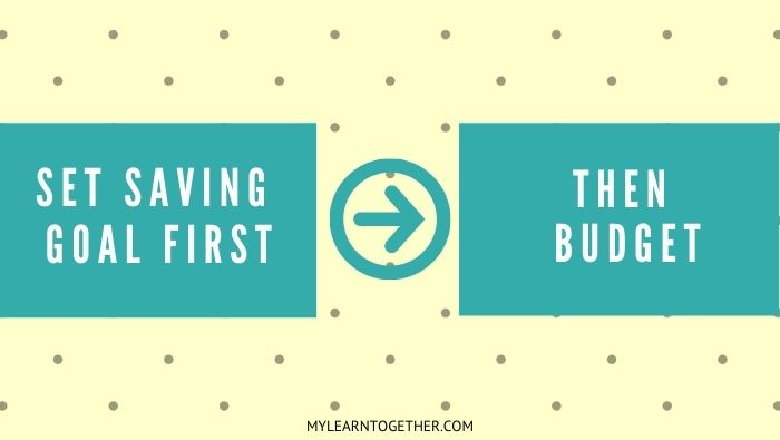 How to budget by saving first