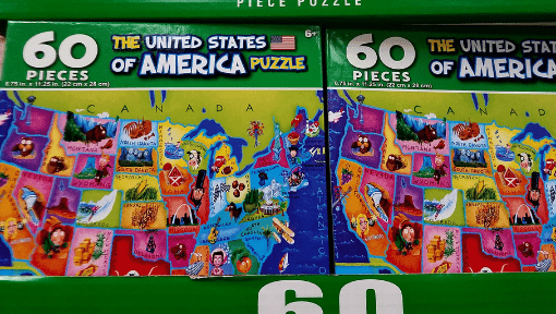 USA Puzzle for Homeschool