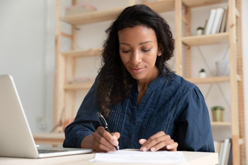 woman completing guardianship-conservatorship petition