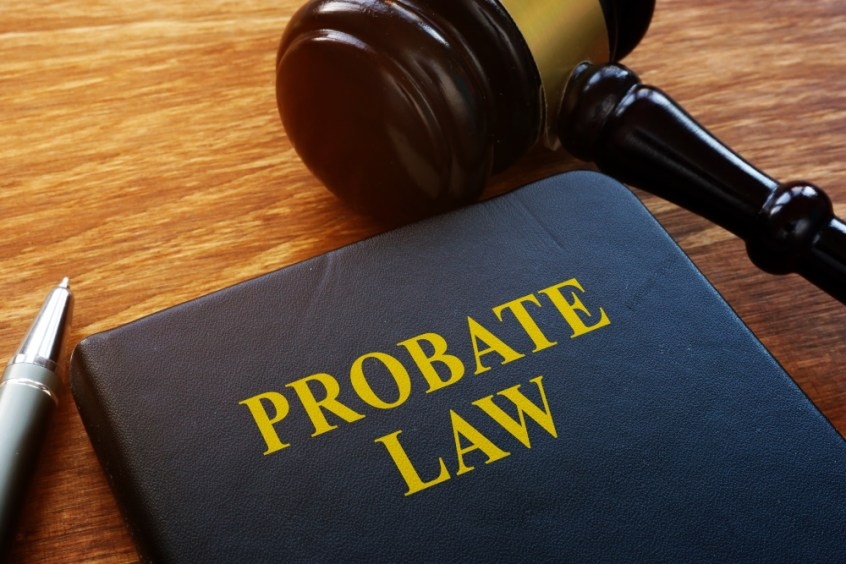 probate law book and gavel