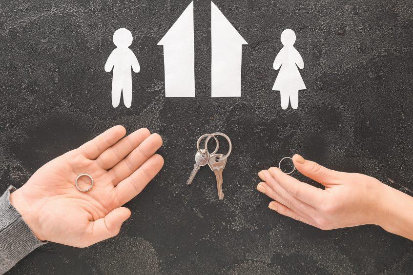 divorce marital settlement concept